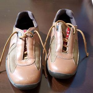 Prada brown sneakers womens 37